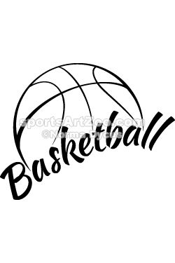 Sports Art Zoo - Basketball with Fun Text