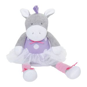 Knitted baby pony toy