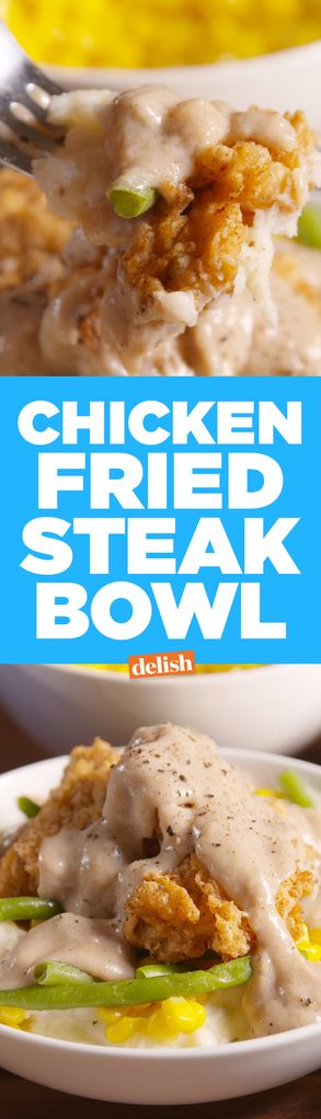 There's A Serious Time-Saving Hack to Making These Chicken Fried Steak Bowls  - Delish.com