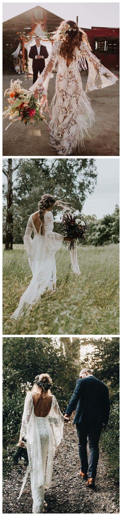 21 Oh So Amazing Bell Sleeve Wedding Dresses #weddings
