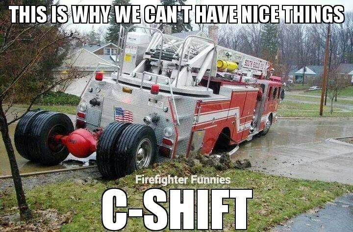 Someone's in some deep shit! lol;; Firefighter humor
