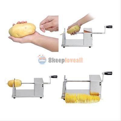Manual Potato Twister Tornado Slicer  Machine Spiral French Fry Vegetable Cutter