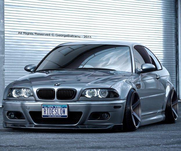 BMW E46 M3 grey slammed  Slammed BMW  Pinterest  BMW