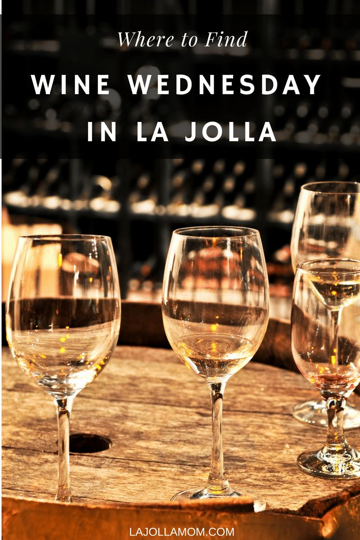 Where to find Wine Wednesday (or Tuesday) deals in La Jolla, California.