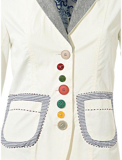 Koop Desigual - Korte blazer wit in de Heine online-shop