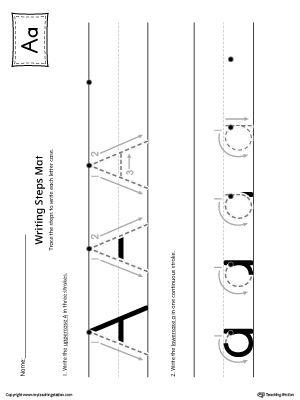 Algebra Worksheets With Answer Key Word  Best Preschool Writing Worksheets Images On Pinterest  Integers Review Worksheet Pdf with Earth Science Review Worksheets Excel Letter A Writing Steps Mat Printable Simple Order Of Operations Worksheets Word