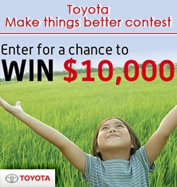 Win $10,000 From Toyota    Enter here: http://free4him.ca/sweepstakes/win-10000-from-toyota/