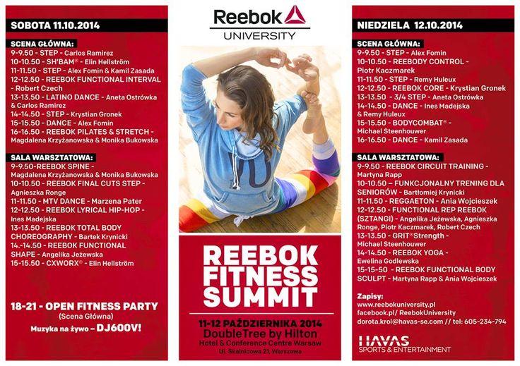 Fanów fitness zapraszamy do DoubleTree! :-)  Reebok University zawita do nas już 11 października.