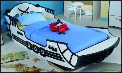 Pirate Ship Single bed for children