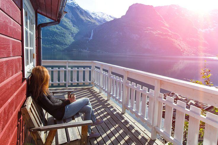 Krajobraz w Norwegii