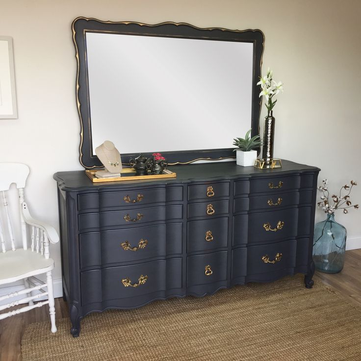 "The enchanting French Country style of this curvy dresser will add lots of interest to any bedroom. A great piece of furniture that offers lots of storage space with it's 12 spacious drawers. Built solid and strong with Cherry wood and dovetail drawers.  • Cherry Wood Dresser • French Provincial Style • Real Wood Furniture  71"" L x ..."