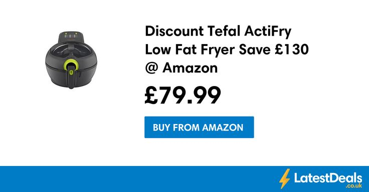 Discount Tefal ActiFry Low Fat Fryer Save £130 @ Amazon, £79.99 at Amazon