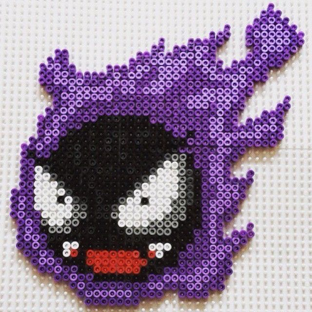 Gastly Pokemon perler beads by mental_jungle