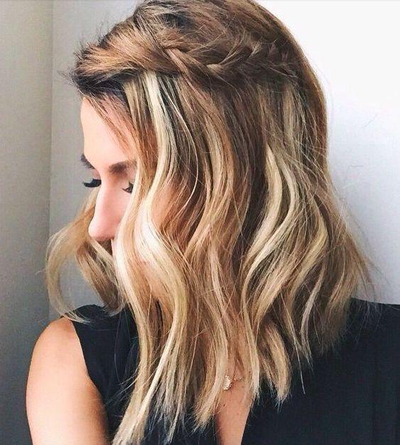 trancinha e cabelo meio solto