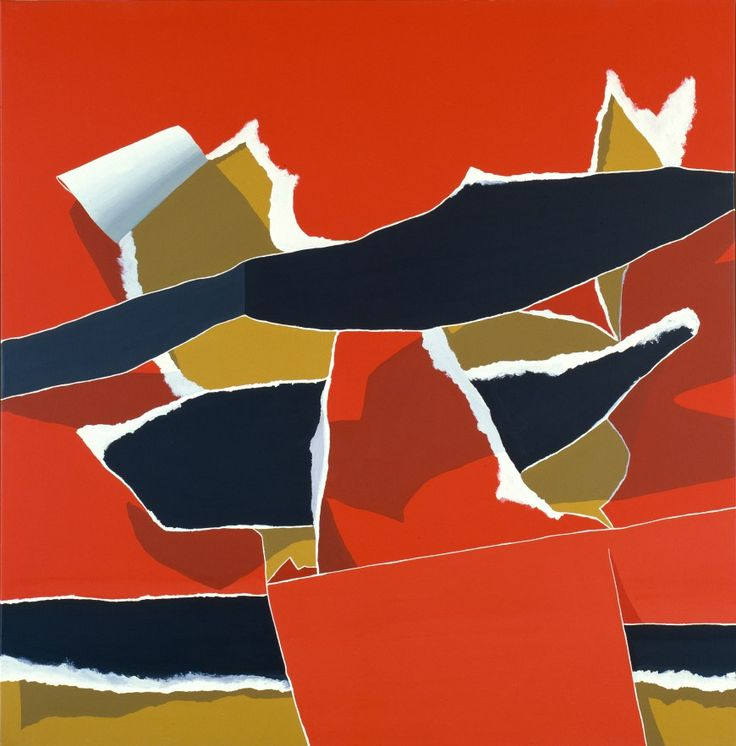 Burhan Dogancay, Red and Black Composition No. 5, 1974. Acrylic on canvas, 60 3/8 x 60 1/4 inches (153.3 x 153 cm)
