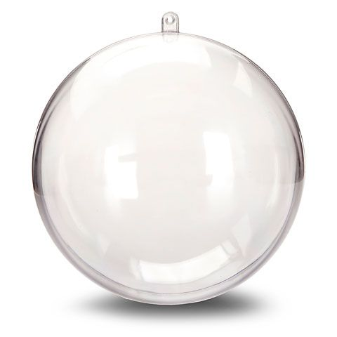 Large Clear Plastic Ornament Balls: 140mm