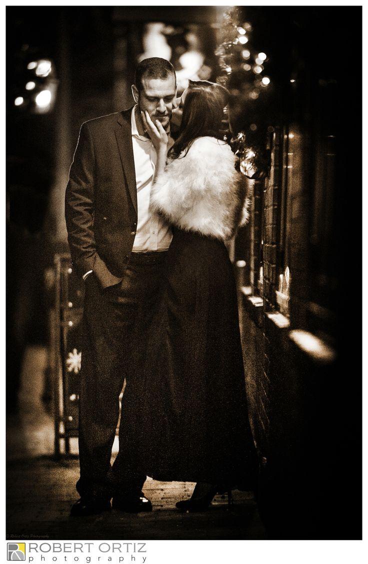 Engagement shoot on State Street, near la Rosa Restaurant. Wedding scheduled for 2015. Copyright Robert Ortiz Photography