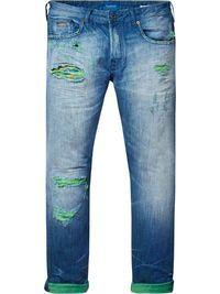 Phaidon - Beschadigde jeans | Slim fit | Broeken | Herenkleding bij Scotch & Soda