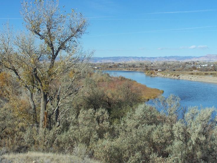 The Colorado River taken from the Fruita Disc Golf course.  2011