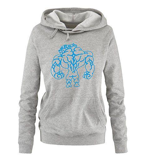 Comedy Shirts – Bodybuilding Bulldog – Damen Hoodi…