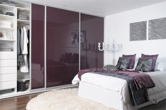 Aubergine high gloss  http://www.sliderobes.com/sliding-wardrobe/category/Bedrooms/High-Gloss-Collection/aubergine-high-gloss