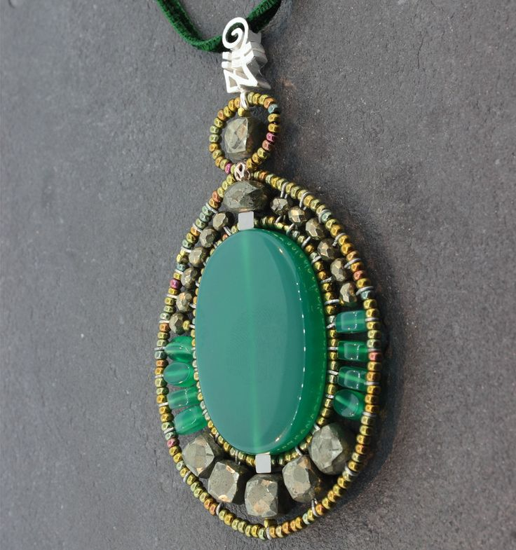104 best ziio pp images on pinterest jewelery florence and ziio ovale green pendant sterling silver green onyx green pyrite and murano glass bead pendant on adjustable velvet cord aloadofball Gallery