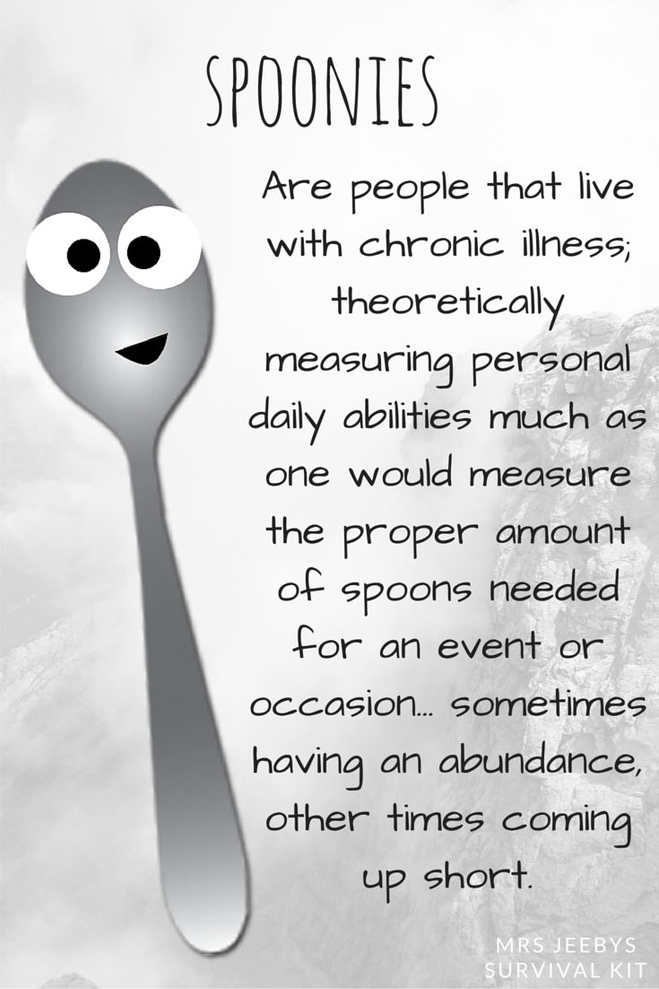 Spoon Count: 4 | Spoonies are people that live with chronic illness; theoretically measuring personal daily abilities much as one would measure the proper amount of spoons needed for an event or occasion... sometimes having an abundance, other times coming up short. Read more about the life of a spoonie here... http://mrsjeebyssurvivalkit.co.uk/2015/09/12/counting-my-spoonies/