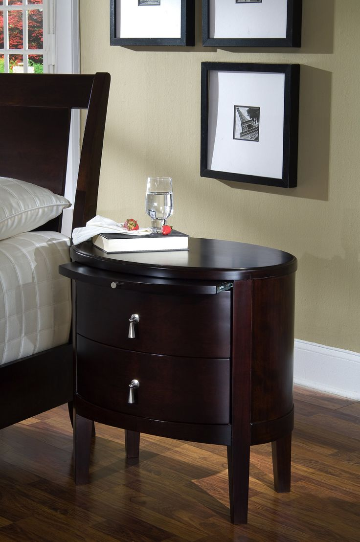 2 Drawer Oval Night Table | Ligna Furniture | Home Gallery Stores