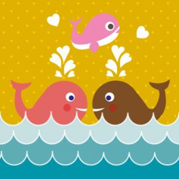 geboortekaartje walvis retro,  pas eenvoudig online het retro geboortekaartje aan, plaats zelf tekst, verander de achtergrond en voeg eenvoudig een illustratie toe aan het ontwerp. De mogelijkheden zijn eindeloos!