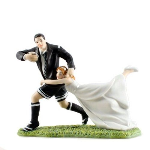 A Love Match Rugby Cake Topper | CouplesOnCakes