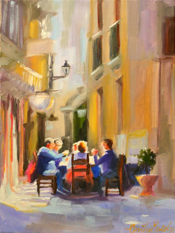 ITALIAN CAFE by Cecilia Rosslee
