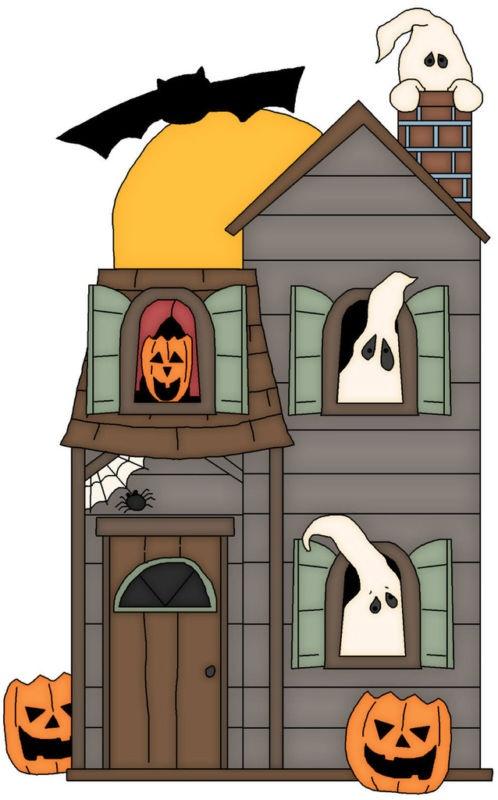 Halloween house lift the flap windows and doors