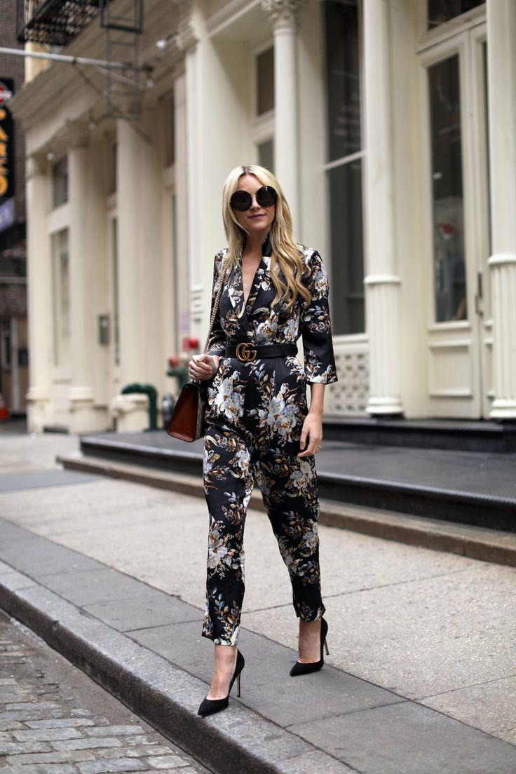 Blair Eadie Atlantic-Pacific Blog // Winter Florals, Asos Jumpsuit, Gucci Belt