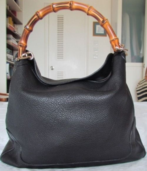 gucci bags on ebay. gucci bamboo handled black leather bag. brand new!! find it on ebay. $999 | my style pinterest bamboo, bags and ebay t