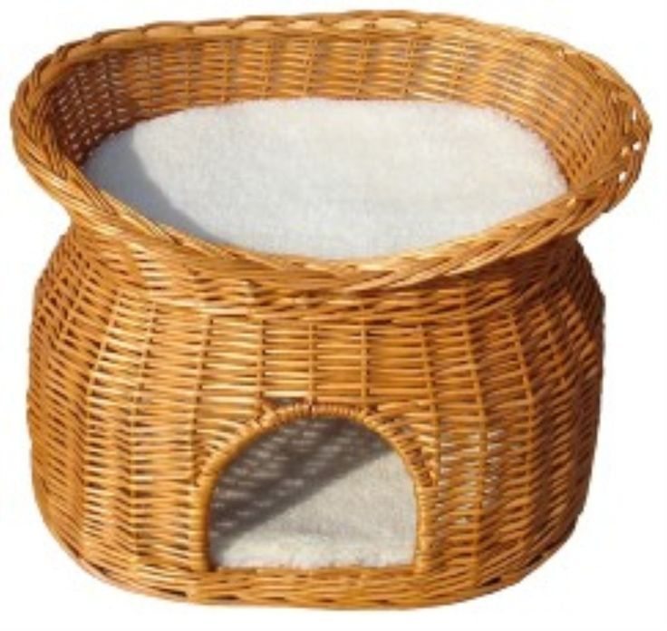Cat Bed Wicker Honey Two Tier 55cm - Cat Beds - Cat