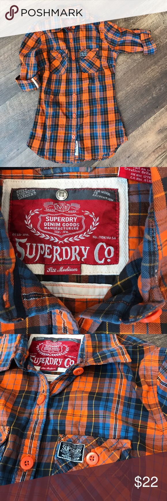 Superdry button up Excellent condition, heavyweight cotton. Fitted! Superdry Tops Button Down Shirts