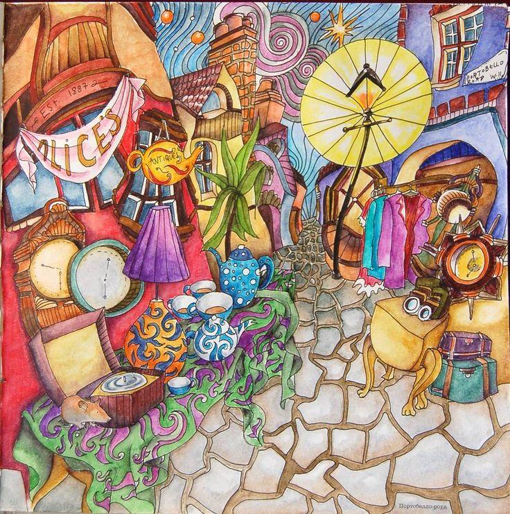 "Portobello  Road  from 'The  Magical  city' /  Портобелло  из ""Магии городов"" Видео раскрашивания /  Speed  coloring  video -  https://youtu.be/2HKOdiWvd9E  #adultcoloring #adultcoloringbook #themagicalcitycolouringbook #themagicalcity  #adultcoloring #adultcoloringbook #themagicalcitycolouringbook #themagicalcity #lizziemarycullenthemagicalcity #раскраскадлявзрослых #раскраскаантистресс #раскраскадлявзрослых #coloringmasterpiece #desenhoscolorir #розмальовка  #розмальовкадлядорослих…"