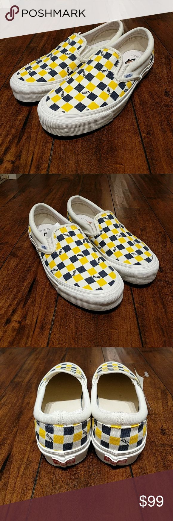 Vans Era Blue Yellow Checker Board Low Vans Era Blue Yellow Checker Board Low   100% Authentic and Brand New  No original box but will be shipped in one. Vans Shoes Sneakers