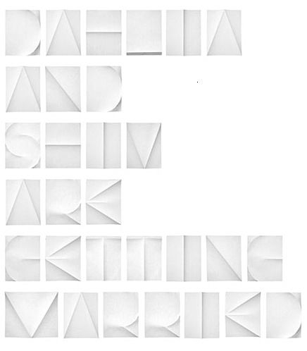 Paper fold type - brilliant!