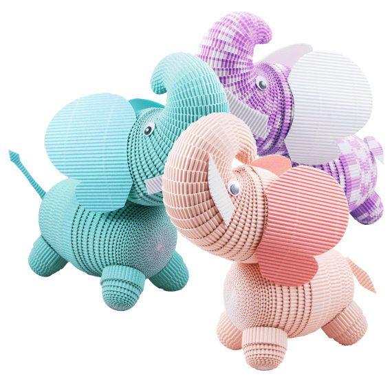 Elephant Nursery e l'arredamento Camera dei bambini. da PaperCraftCreatures