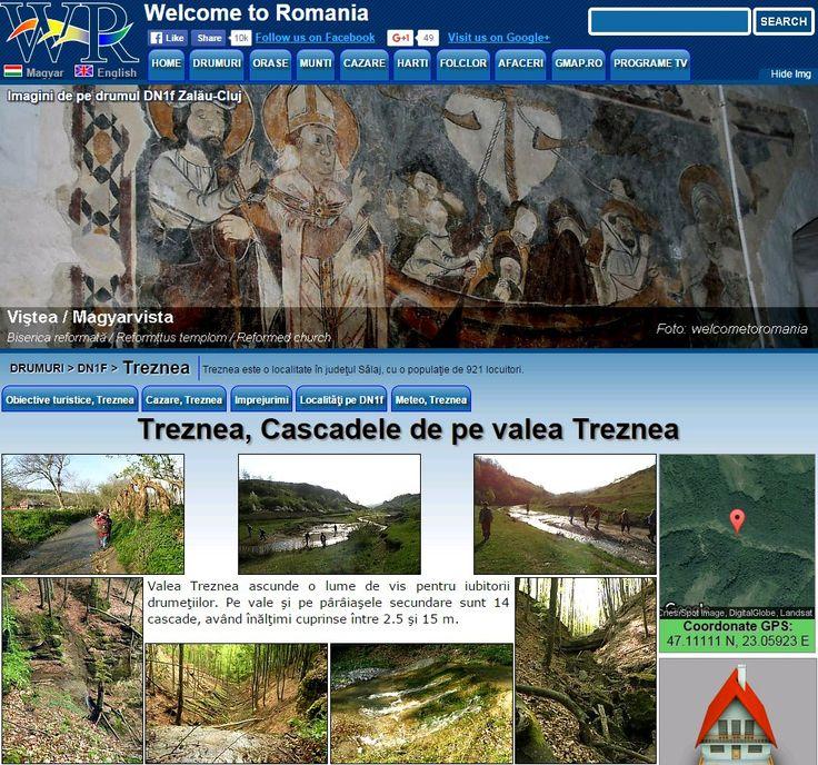 Treznea Waterfalls in the Treznea valley, http://www.welcometoromania.ro/DN1f_Zalau_Cluj/DN1f_Zalau_Cluj_Treznea_Cascade_e.htm