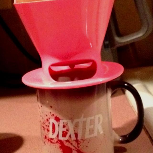 I like my coffee cups like I like my meat - bloody