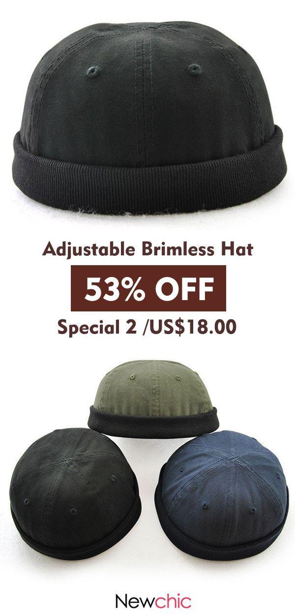 e8ac216d Retro Adjustable Rolled Cuff Brimless Hat #hat #vintage #retro #style