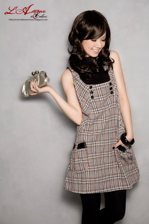Ladies fashion pinafore dress for girls