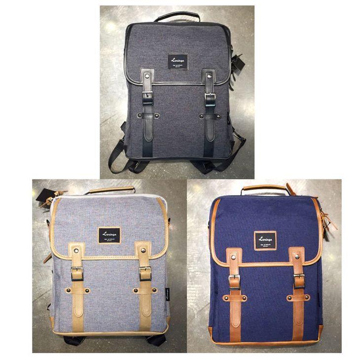 Korea Fashion Men Women Casual Square Normal Backpack School Travel Cross Bag