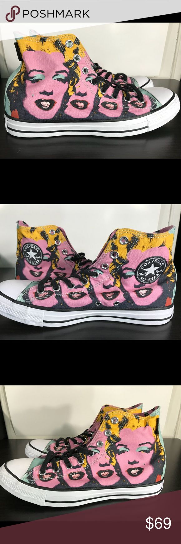 Chuck Taylor All Star Andy Warhol Marilyn Monroe Hello Everybody!!    I'm selling a pair of Andy Warhol Chuck Taylor Converse with the original box.    Men's Size 8/Women's size 10    Style: 153839C   10/10 condition (New With Box, Lid removed)    If you have any questions at all, please feel free to ask!      Thank you for looking and enjoy your day!!! Converse Shoes Sneakers