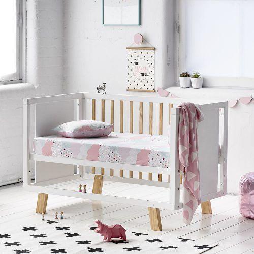 Adairs Kids Cloud Cot Flannelette Sheet Set, cot sheets, nursery bedlinen