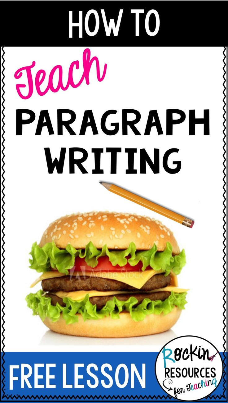 Find ways to teach paragraph writing through step-by-step topic sentences, rockin beginnings, indents, relevant details, transition words, closing sentences, and clinchers!