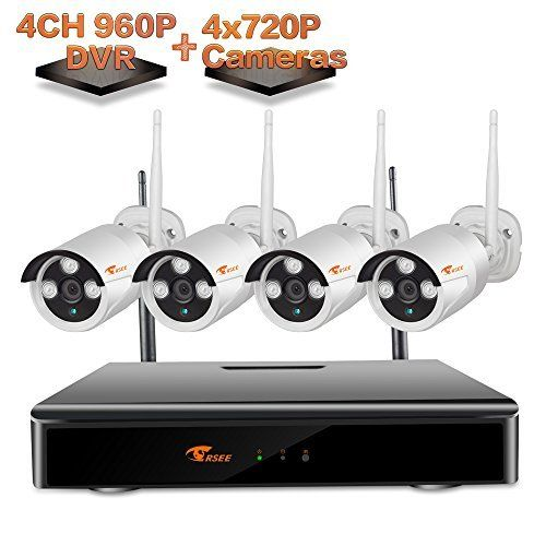 [4CH 960P DVR] CORSEE Wireless Security Camera System with 4 x 720P Weatherproof Night Vision Wireless CamerasFast Remote View by Mobile and PCNo Hard DriveAuto Pair (Suppot Motion Detection and Email Alarm) Wireless Security Weatherproof Cameras Detection is a top quality pick in the best online products in Photo category in Canada. Click below to see its Availability and Price in YOUR country.