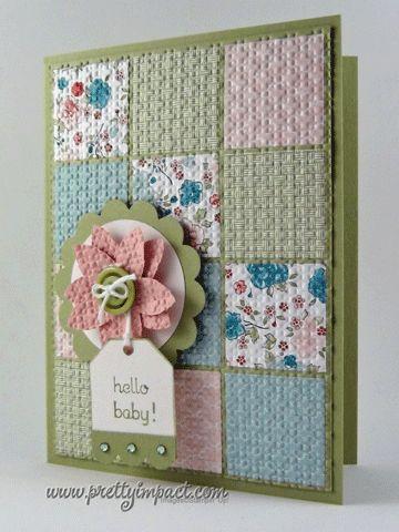 MOJO238 - Blanket for Baby: Embossing Folder, Cute Cards, Cards Ideas, Baby Cards, Baby Quilts, Quilts Cards, Blankets For Baby, Patchwork Cards, Paper Crafts
